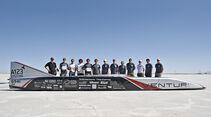 Venturi Jamais Contente, E-Auto, Geschwindigkeits Weltrekord, Bonneville-Wüste, Team