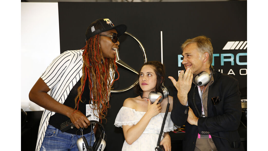 Venus Williams, Rose Salazar & Christoph Waltz - Formel 1 - Austin - GP USA - 22. Oktober 2016