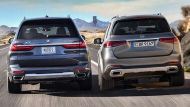 Vergleich BMW X7 Mercedes GLS Aufmacher