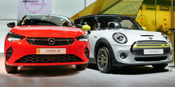 Vergleich Mini E Opel Corsa E IAA 2019