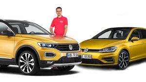 Vergleich VW T-Roc Golf Aufmacher