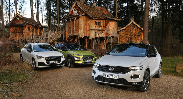 Audi q2 2 0 hyundai kona 1 6 und vw t roc 2 0 im test for T roc spazio interno