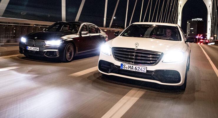 Bmw M760li Xdrive Um Mercedes Amg S63 4matic Im Test Auto Motor