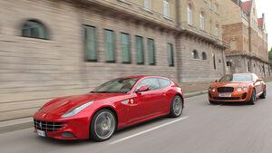 Vergleichstest Ferrari FF, Bentley Continetal Supersports