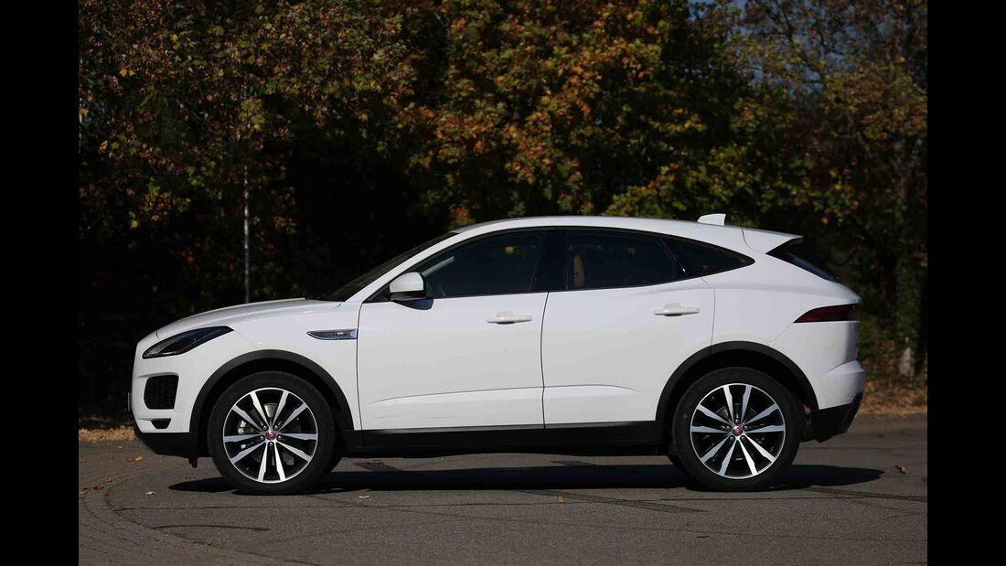 Vergleichstest, Mazda CX-5 und Jaguar E-Pace, Jag Seite