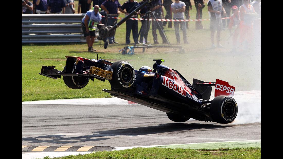 Vergne - Crash - GP Italien 2012