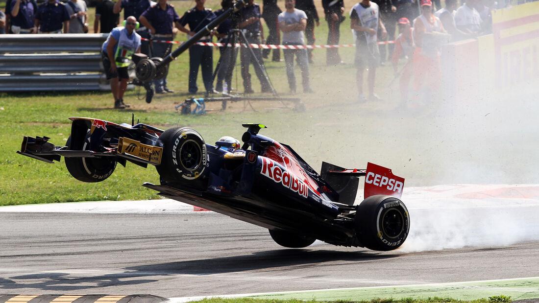 Vergne GP Italien F1 Crashs 2012