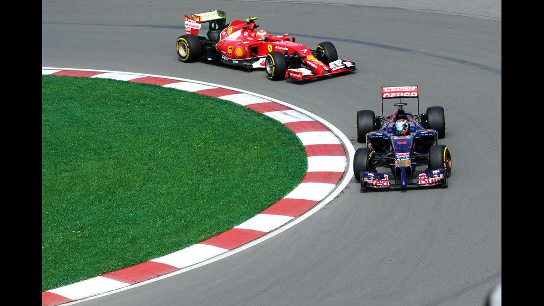 Vergne & Räikkönen - Formel 1 - GP Kanada - Montreal - 6. Juni 2014