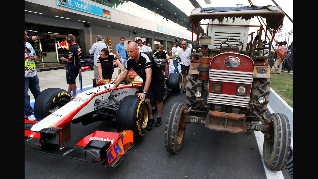 Verkehrschaos GP Indien 2012