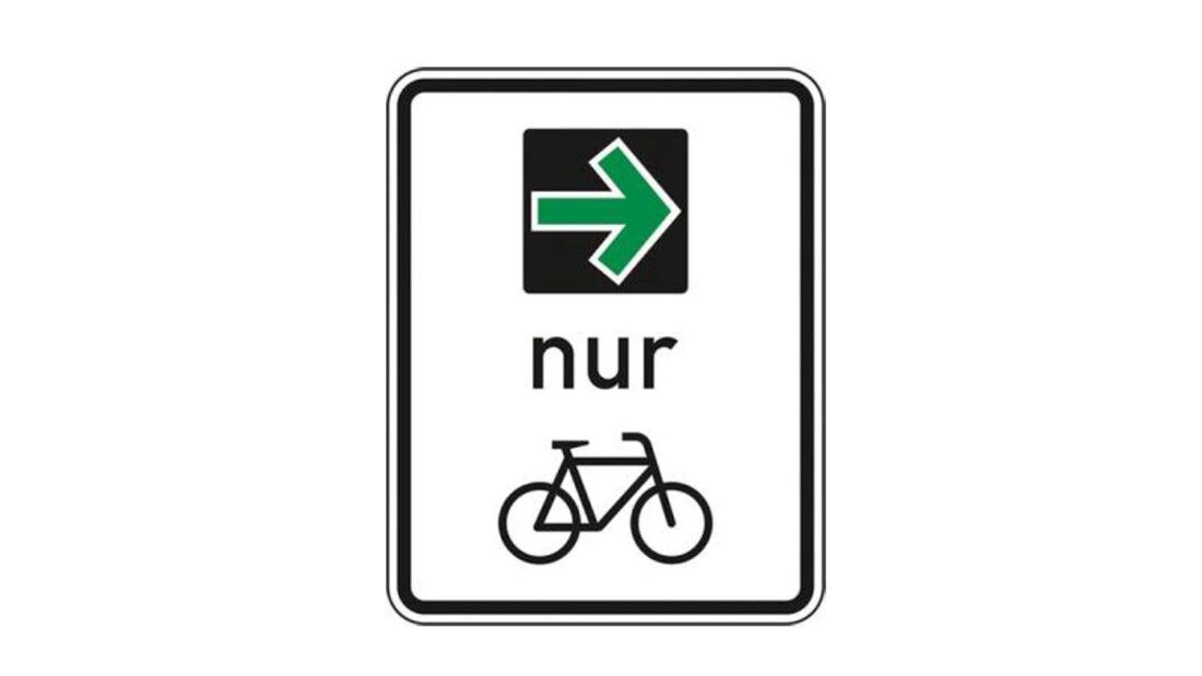 Verkehrszeichen Grüner Pfeil Radfahrer