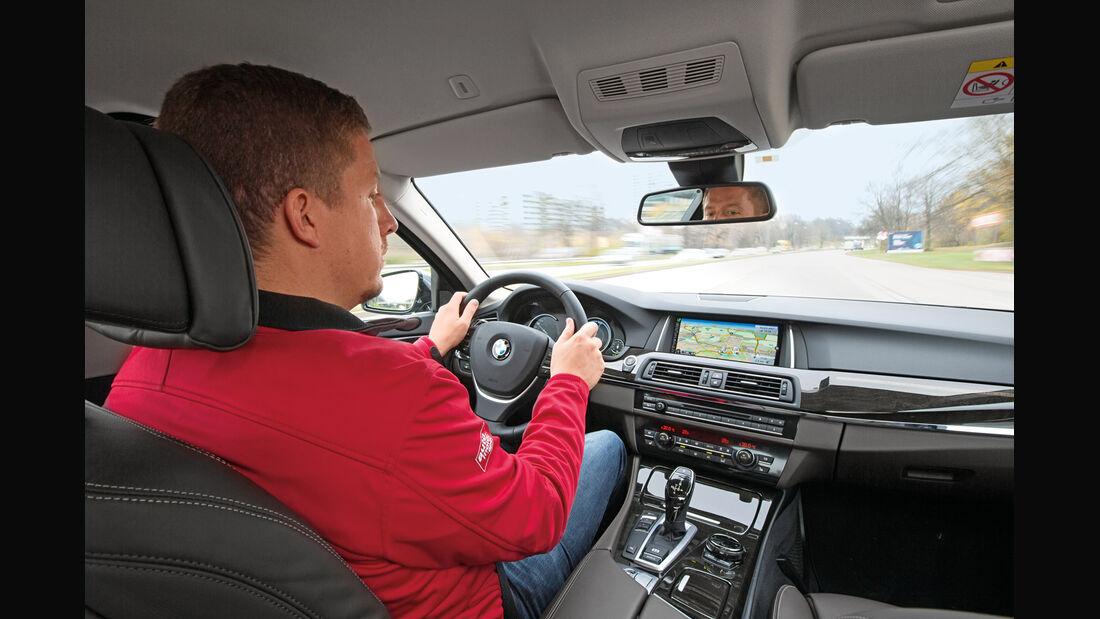 Vernetzes Fahren im Alltag, Technik, Selbstversuch