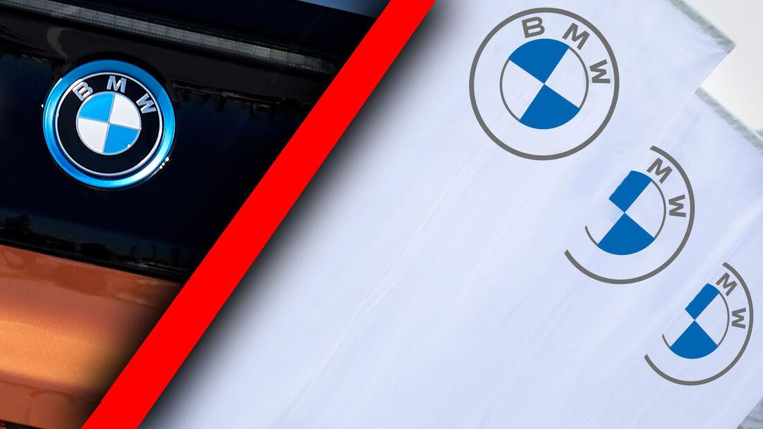 Verschiedene BMW Logos für Fahrzeuge und Kommnunikation
