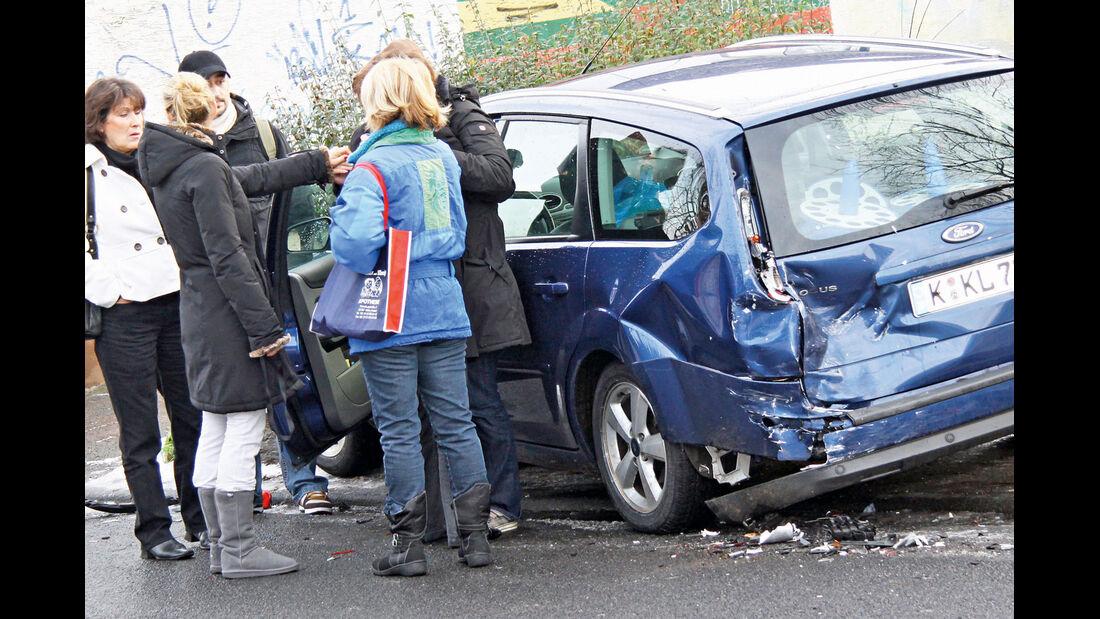 Versicherungs-Ärger, Unfall