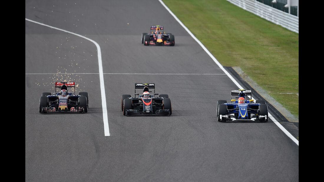 Verstappen, Button & Nasr - GP Japan 2015