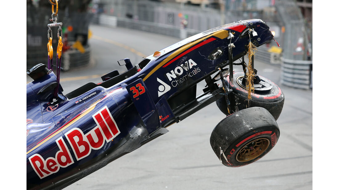 Verstappen Crash - GP Monaco 2015