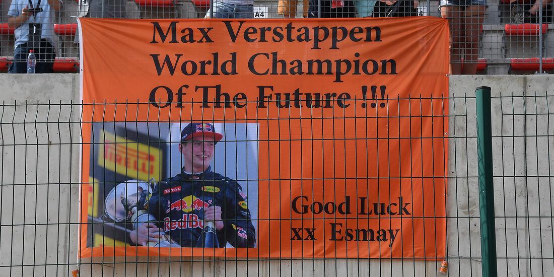 Verstappen-Fans - Formel 1 - GP Belgien 2016