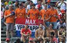 Verstappen-Fans - Formel 1 - GP Italien - Monza - 3. September 2016