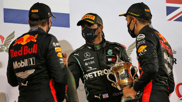 Verstappen - Hamilton - Albon - GP Bahrain 2020 - Sakhir - Rennen