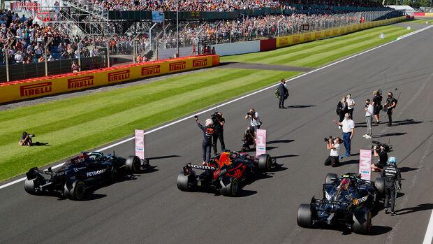 Verstappen, Hamilton & Bottas - Formel 1 - GP England - Silverstone - 17. Juli 2021