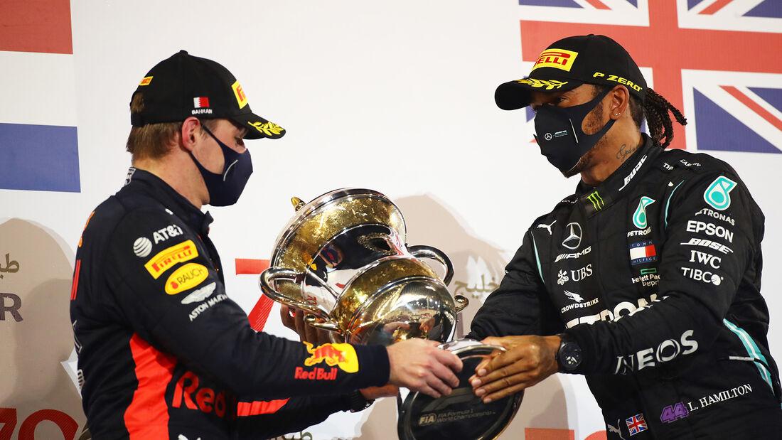 Verstappen - Hamilton - GP Bahrain 2020 - Sakhir - Rennen