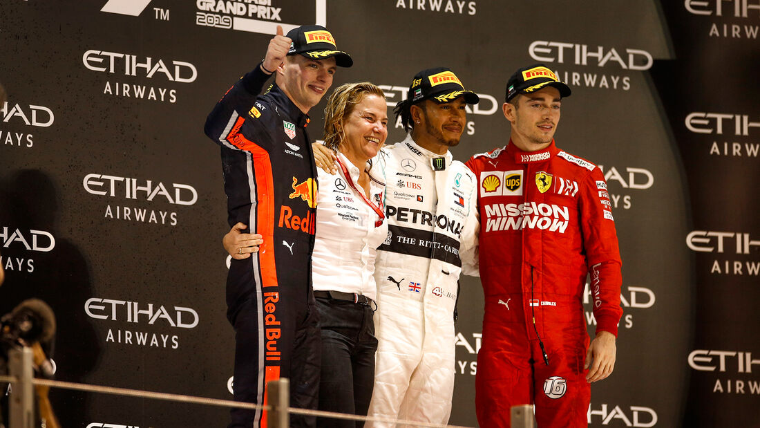 Verstappen - Hamilton - Leclerc - GP Abu Dhabi 2019 - Rennen