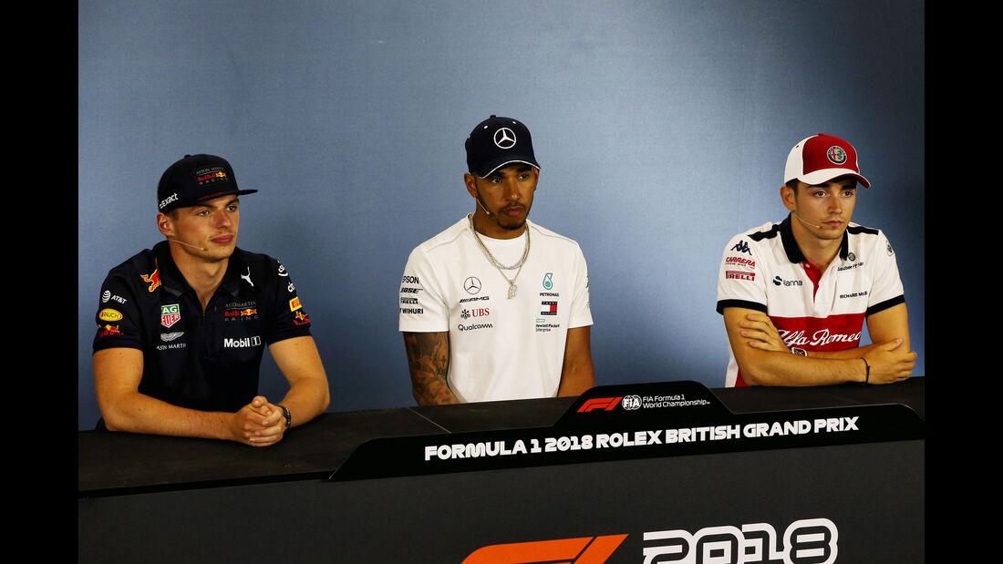Verstappen - Hamilton - Leclerc - GP England - Silverstone - Formel 1 - Donnerstag - 5.7.2018