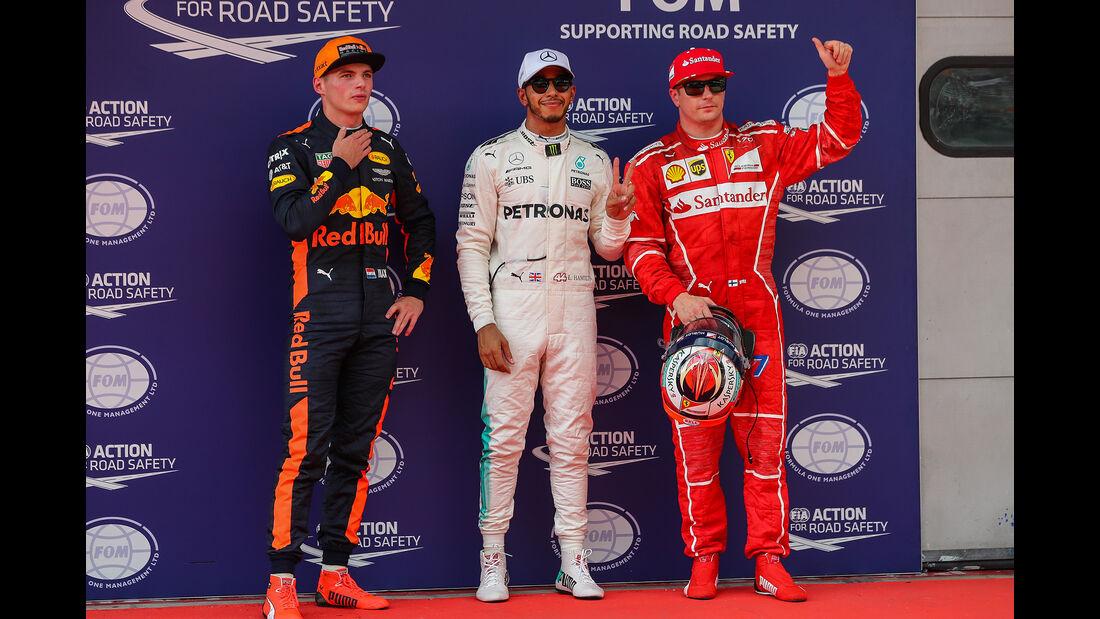 Verstappen, Hamilton & Räikkönen - GP Malaysia 2017