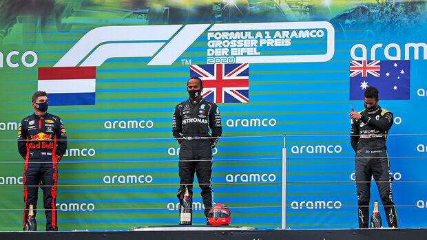 Verstappen - Hamilton - Ricciardo - GP Eifel 2020 - Nürburgring