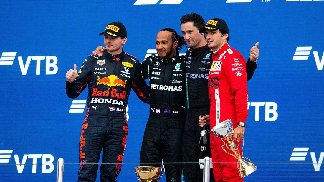 Verstappen - Hamilton - Sainz - GP Russland 2021 - Sotschi