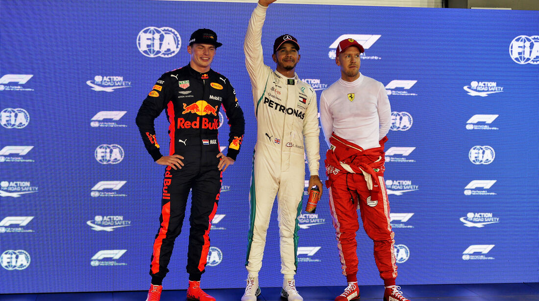 Verstappen, Hamilton & Vettel - GP Singapur 2018