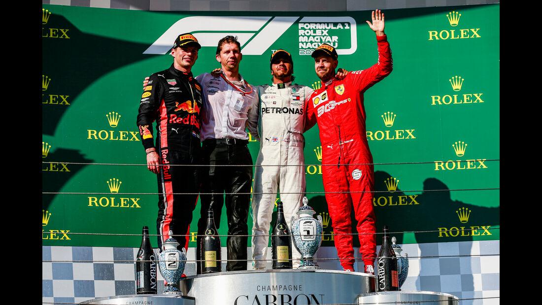 Verstappen - Hamilton - Vettel - GP Ungarn 2019 - Budapest - Rennen