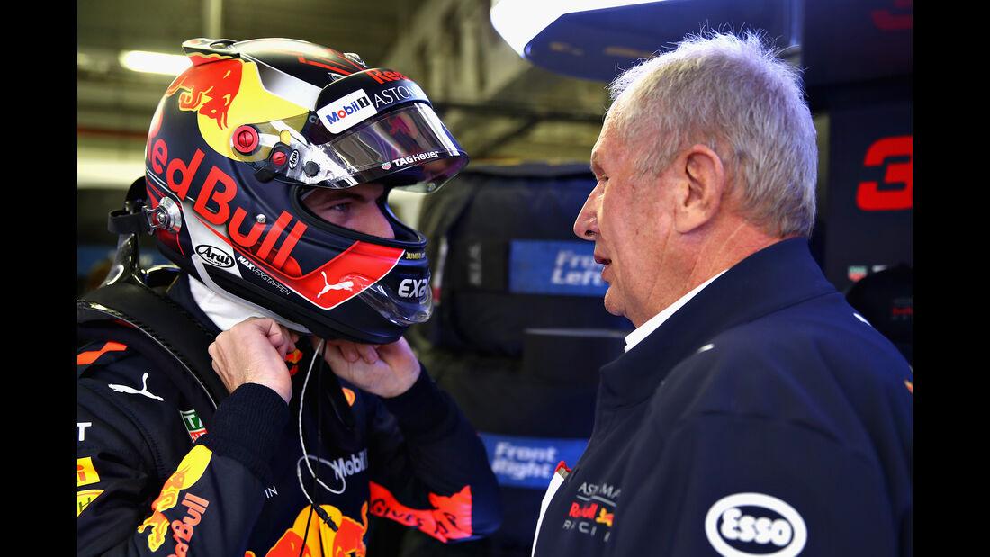Verstappen & Helmut Marko - Formel 1 - GP Mexiko - 27. Oktober 2018