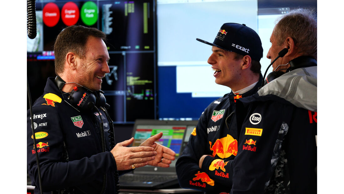 Verstappen - Horner - Marko - Red Bull - Formel 1 - GP China 2017 - Shanghai - 7.4.2017
