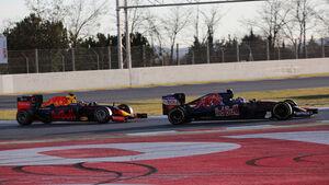 Verstappen & Kvyat - Red Bull & Toro Rosso - Formel 1-Test - Barcelona - 3. März 2016