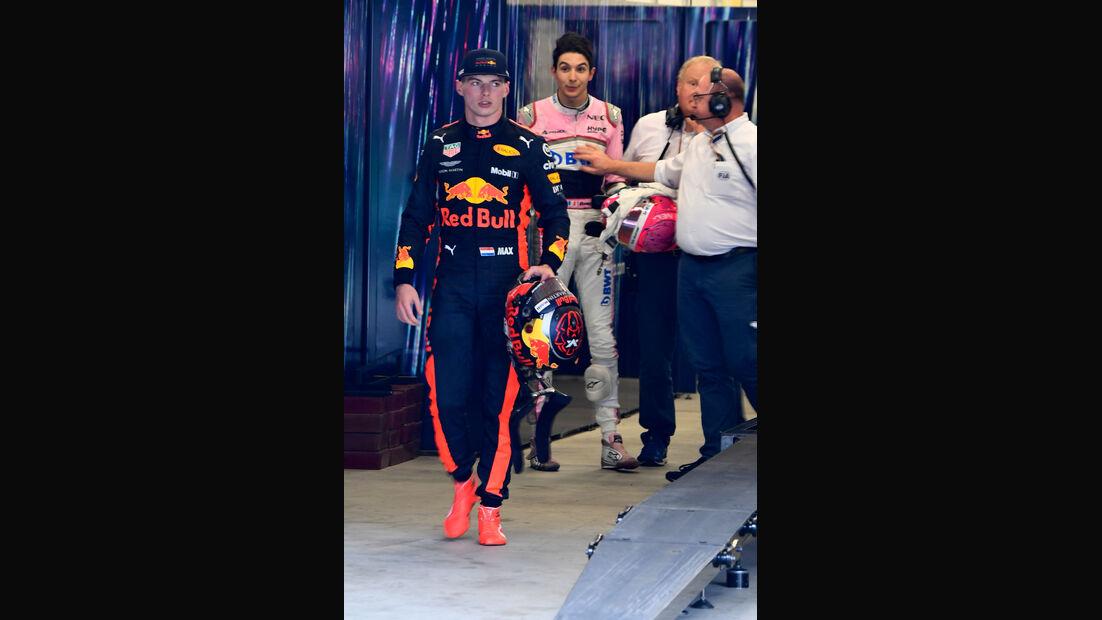 Verstappen - Ocon - GP Brasilien 2018 - Rennen