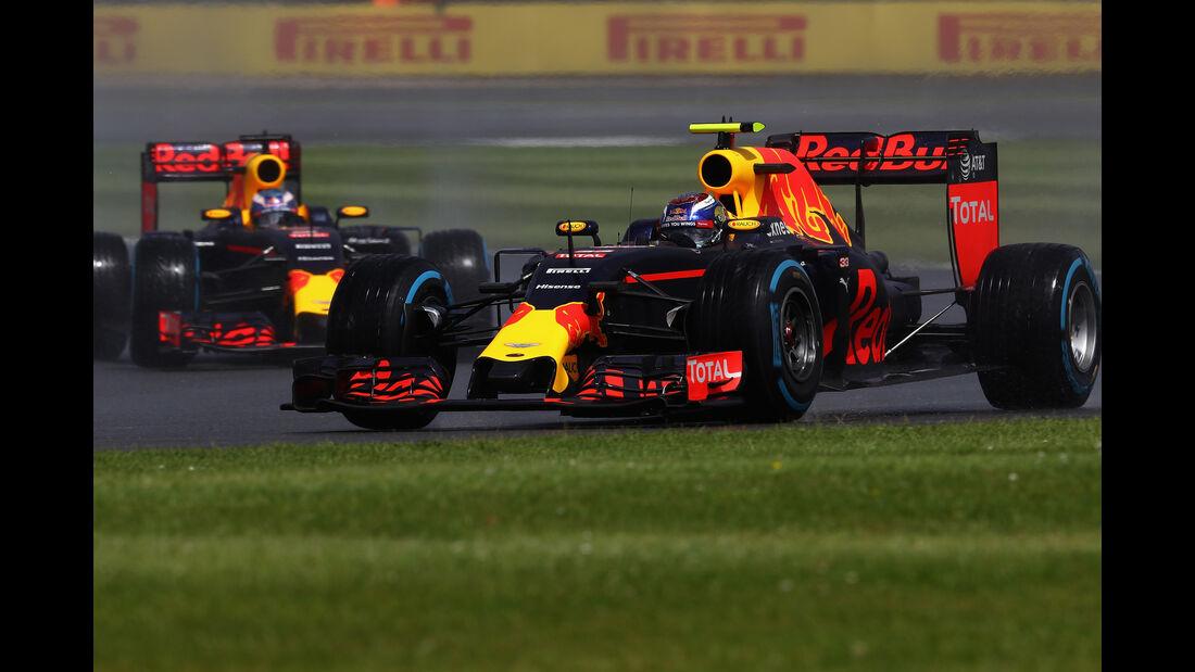 Verstappen & Ricciardo - GP England 2016
