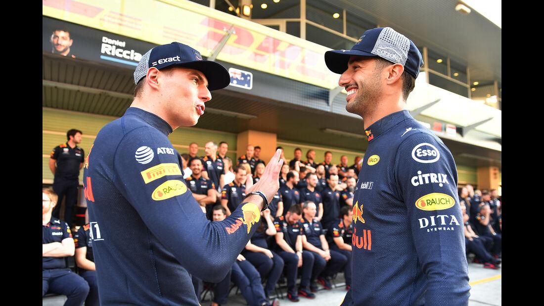Verstappen & Ricciardo - Red Bull - GP Abu Dhabi - Formel 1 - 22. November 2018