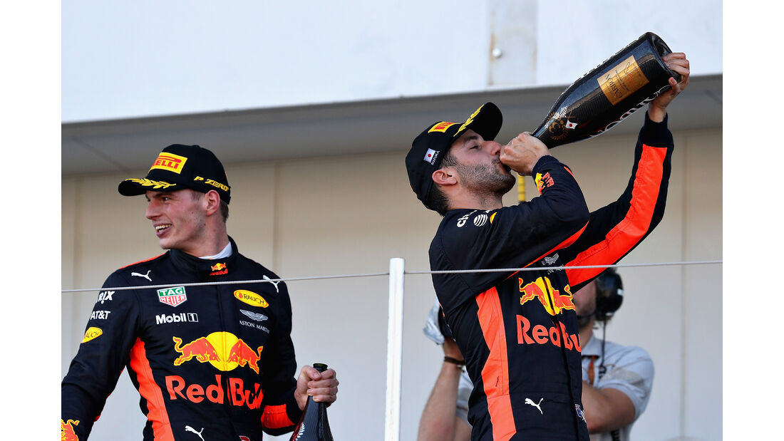Verstappen & Ricciardo - Stats - GP Japan 2017