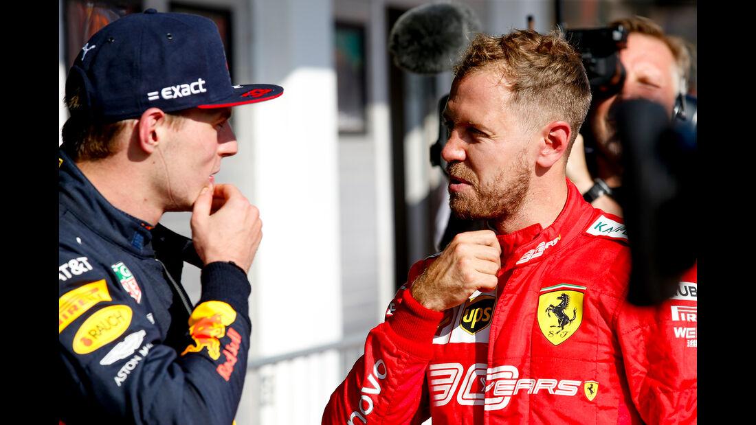 Verstappen - Vettel - GP Ungarn 2019 - Budapest - Rennen