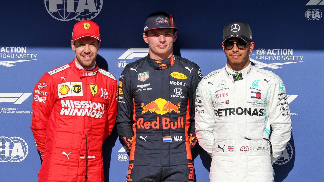 Verstappen, Vettel & Hamilton - Formel 1 - GP Brasilien - Sao Paulo - 16. November 2019