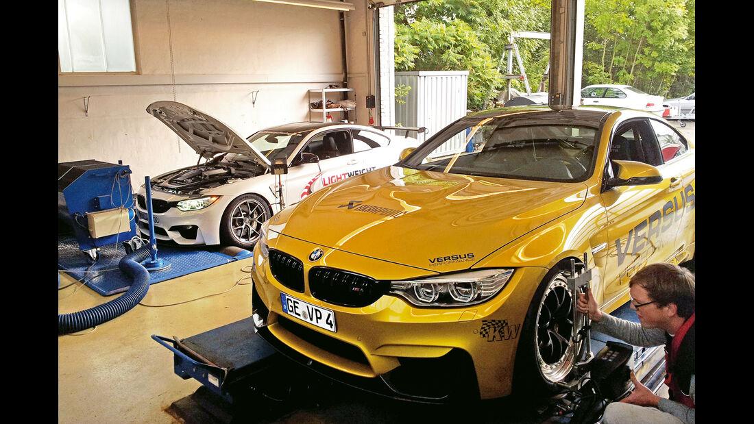 Versus BMW M4 Coupé, Lightweight BMW M4 Coupé, Prüfstand