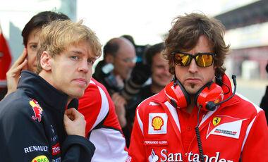 Vettel Alonso 2012 Formel 1