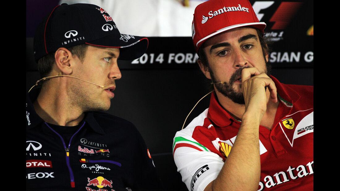 Vettel & Alonso - Formel 1 - GP Russland - Sochi - 9. Oktober 2014