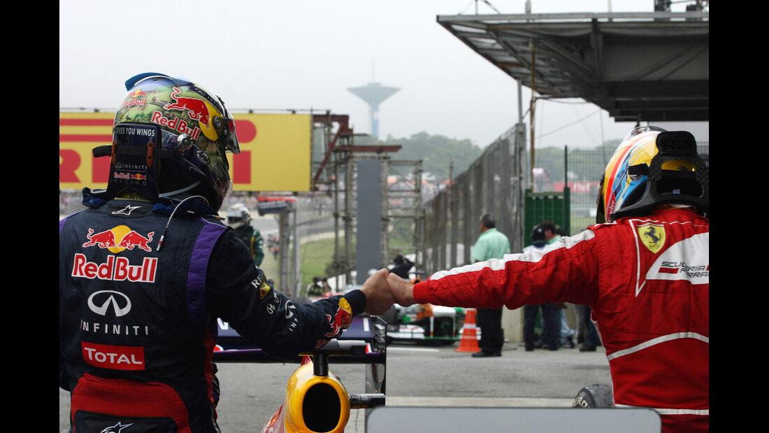 Vettel & Alonso - GP Brasilien 2013