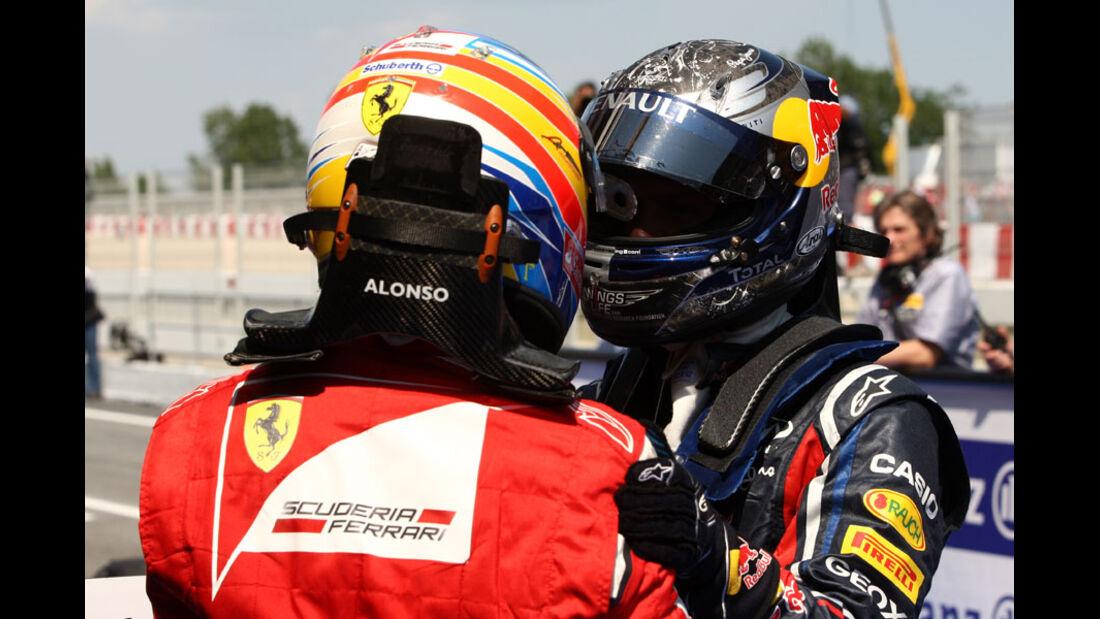 Vettel Alonso GP Spanien 2011