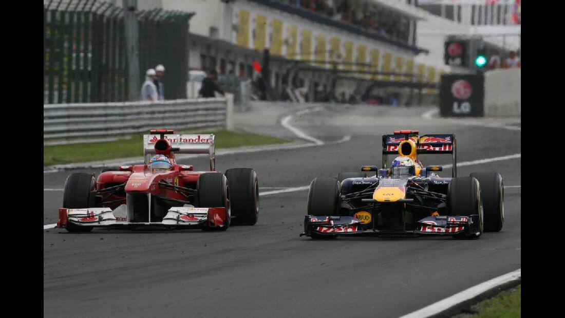 Vettel Alonso - GP Ungarn - Formel 1 - 31.7.2011 - Highlights