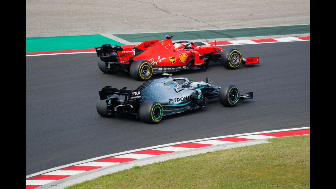 Vettel - Bottas - GP Ungarn 2019 - Budapest - Rennen