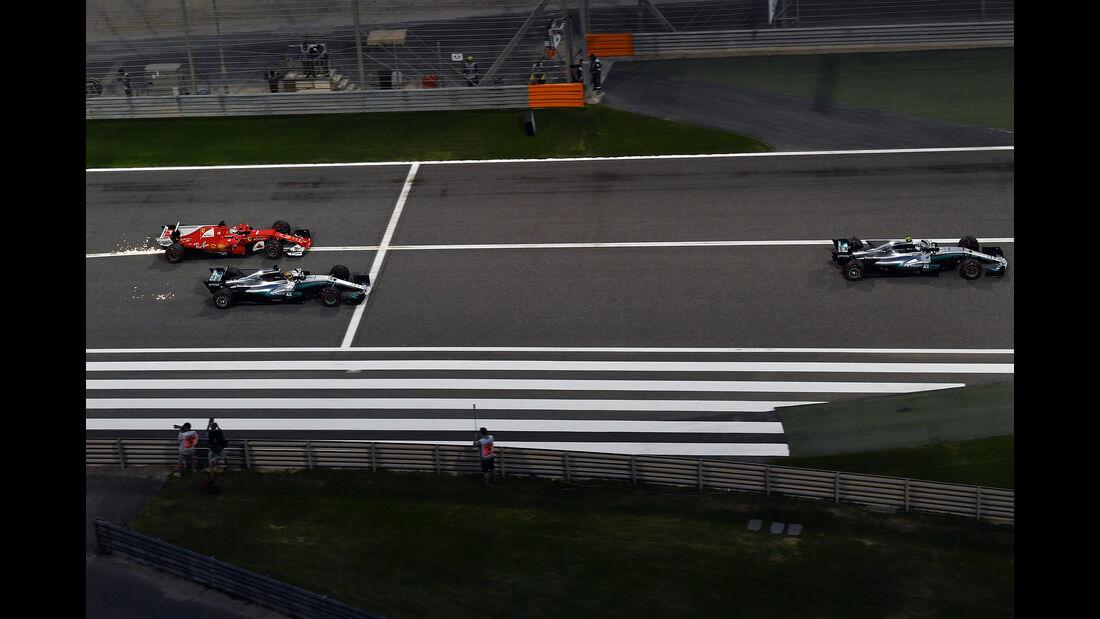 Vettel, Bottas & Hamilton - Formel 1 - GP Bahrain 2017