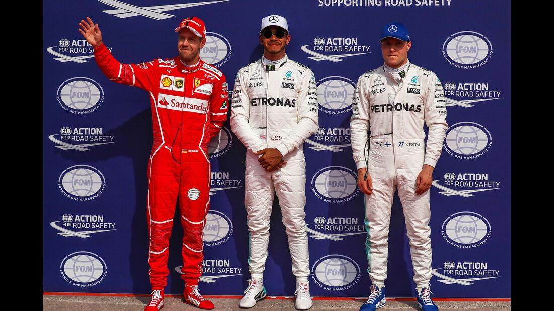 Vettel, Bottas & Hamilton - Formel 1 - GP Belgien - Spa-Francorchamps - 26. August 2017