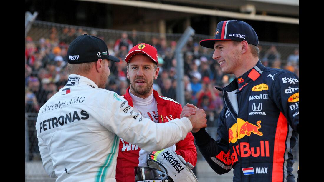 Vettel, Bottas & Verstappen  - Formel 1 - GP USA - Austin - 2. November 2019
